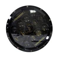 75W Auto Parts Halo 12V DRL 7 Inch Round Jeep Wrangler LED Headlight with Aluminum Die-cast Housing Manufactures