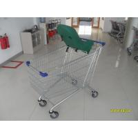 Buy cheap Supermarket Grocery Shopping Cart  210L / Metal Steel Grocery Buggy CartsWith Baby Capsule from wholesalers
