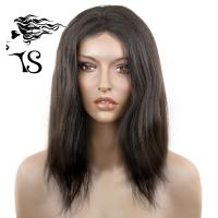 Women Relaxed Straight Human Hair Lace Front Wigs 100% Virgin Remy No Shedding Manufactures