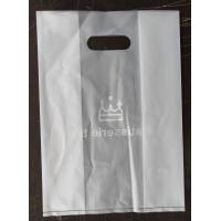 Custom DieCut white CPE Handle Bags , Biodegradable Plastic Shopping Bags Manufactures