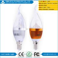 High Lumen 3W E14 Led Candle Bulb Low Energy Milky Cover Clear Cover Manufactures