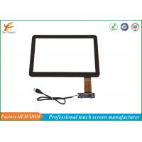 Black Border 14 Inch POS Touch Panel Capacitive Multifunction With USB Connector Manufactures