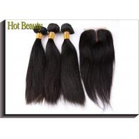 No Chemical Grade 6A Virgin Hair Straight Hair Style Natural Black 1b# With Closure Manufactures