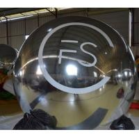Big Commerical Inflatable Mirror Ball / Plastic Spheres with Customized Logo Printing Manufactures