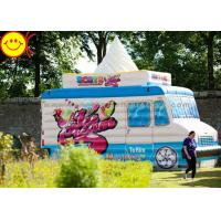Colorful Ice Cream Kids Jumper Inflatable Bouncers Cream Inflatable Combo Truck Game