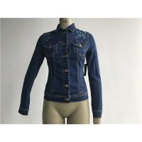 Customized Embroidered Jean Jacket , Ladies Stretch Denim Jacket TW78599 Manufactures