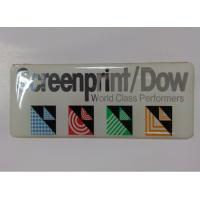 Self Adhesive Embossed Pu Dome Customized Name Plates With CMYK / Silk Printing Manufactures