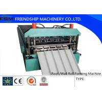 Automatic Wall Panel Roll Forming Machine Cold Steel 15m / min Speed Manufactures