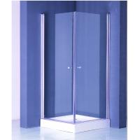 Quality Zinc Alloy Handle Square Shower Enclosure 800 X 800 White Frame Finished for sale