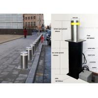 Quality LED Light Full Automatic Retractable Bollards Remote Control Bollards 304 Stainless Steel for sale