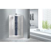 Popular White ABS Tray Corner Shower Stalls , Circle Quadrant Shower Cabin Manufactures