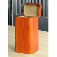 Handmade Wood Jewelry Boxes For Women Large Storage Case , Orange Color Manufactures