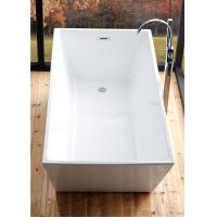 Reinforced 5 Foot Soaker Tub , Corner Freestanding Tub With Faucet Holes Manufactures
