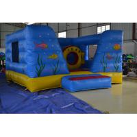 Quality Blue Inflatable Sport Games PVC Tarpaulin With Fireproof For Kids for sale