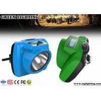 IP68 1W Miners Head Torch, 5.2Ah 13000 Lux PC Helmet LampWith OLED Screen Manufactures