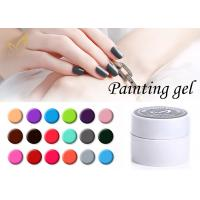 Colorful Nail Art Gel Paint / No Chemical Nail Polish European Standard Manufactures