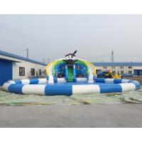 Buy Best price sale Family fun kids games backyard inflatable water park