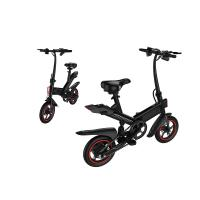 Foldable Electric Bicycle Leather Soft Seat , Collapsible Electric Bike City e Cycle Manufactures
