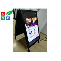 Quality Double Side Folded Outdoor LCD Signs A Shaped Board For Pavement Street Sign for sale