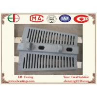 China Good Finish Cement Mill Grate Liner Plates Slot Width Only 6mm ZG50Cr5Mo EB5011 on sale