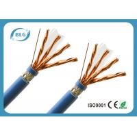 S / FTP 8 Cores Cat 7 Lan Cable With Skin - Foam - Skin Insulation Anti EMI Manufactures