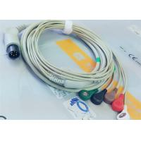 M&B 6 Pin Snap AHA ECG Patient Cable For Medical Equipment , Electrode Lead Wires Manufactures