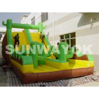 OEM Green Antelope Plato TM Inflatable Obstacle Course With bounce slides rentals Manufactures