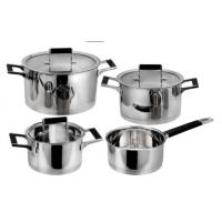 Best selling product 8PCS stainless steel cookware with heat resistant handle Manufactures