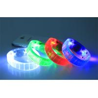 Custom Child Toy LED Flashing Bracelet Blister Card / Glow In The Dark Wristbands Manufactures