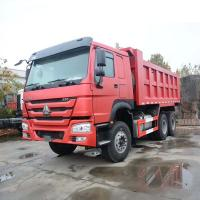 336HP 6X4 10 Wheel SINOTRUK HOWO Dump Truck Heavy Duty Red Color Long Life Manufactures
