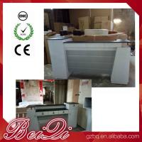 Used Beauty Salon Furniture Front Desk Cheap Checkout Counter Luxury Reception Table Manufactures