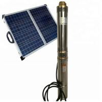 High Quality 4KW 5.5HP Solar Submersible Water Pump System Manufactures