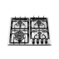 Built In 4 Burner Gas Hob Stainless Steel , 4 Burner Gas Cooktop 580x500mm Manufactures