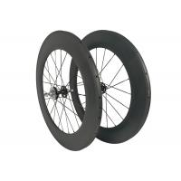 Toray 700 Carbon Track Bike Wheels 23mm Width 700c Tubular Clincher 88mm Fixed Gear Manufactures