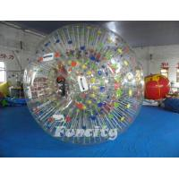 Color Dots Inflatable Zorb Ball , Grass Zorb Ball , Inflatable Human Hamster Ball Customized for Kids and Adults Manufactures
