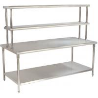Kitchen YX-H30-2 Stainless Steel Catering Equipment / Work Table With Top Rack Manufactures
