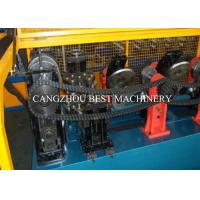 China Galvanized Metal Steel Sheet CZ Purlin Cold Roll Forming Machine Hydraulic Cutting Type on sale