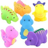 Soft Floating Dinosaur Rubber Bath Toys Phthalate Free For Tub / Pool / Beach Manufactures