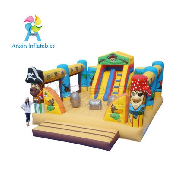 Giant fun children bouncy Pirate Ship Inflatable Playground equipment