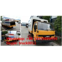 JMC brand 4*2 LHD 108hp diesel road cleaning truck for sale, best price JMC brand small road sweeper vehicle for sale Manufactures