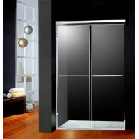 Quality America Style Double Sliding Shower Doors Glass With 2 Bright Handles for sale