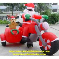 Christmas Decoration Santa Custom Inflatable Products Red Color SGS Certification Manufactures