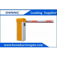 Yellow Intelligent Entrance Electronic Boom Barrier / Arm Barrier Gate Manufactures