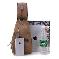 Chest Bag Men With Anti Theft Magnetic Clasp , Washed Fabric Mens Messenger Bags