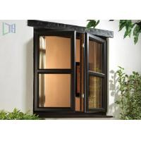 Quality Soundproof Aluminium Casement Anodized Glass Window With Grill Design for sale