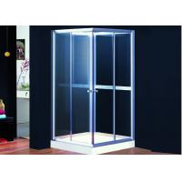 Flexible 6mm Glass Door Sliding Shower Enclosure For Baths 195cm Height Manufactures