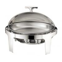 Stainless Steel Oval Roll Top Chafing Dish W/ 6.8L Oval Food Pan W/ Fuel Holder Lid Fully Open at 180° Manufactures