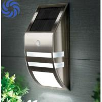 Durable / Elegant Stainless Steel Solar Wall Lights With Motion Sensor Manufactures