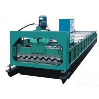 China Colored Steel Roof Panel Roll Forming Machine Producing 750mm Width Tiles on sale