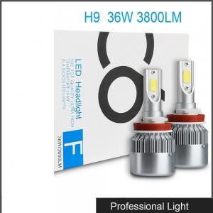 Car Accessories LED H9 Headlight Bulb Lamp 6000K 36W 3800LM LED Headlight White C6 Manufactures